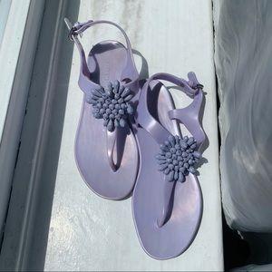 Coach monochromatic beaded jelly sandal